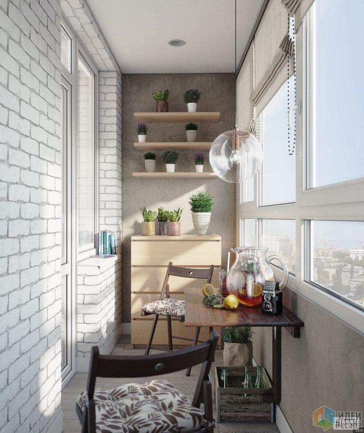 Стены на балконе облицованы декоративным кирпичом в поддержку стен в ванной.