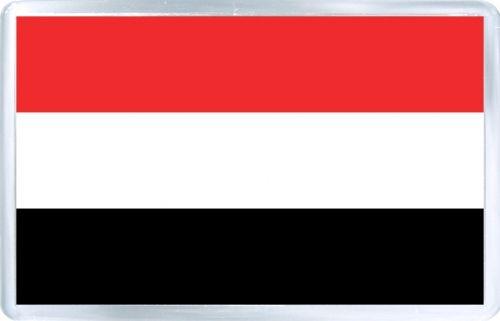 $3.29 - Acrylic Fridge Magnet: Yemen. Flag of Yemen