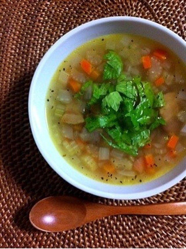 セロリスープ☆みじん切り野菜スープ