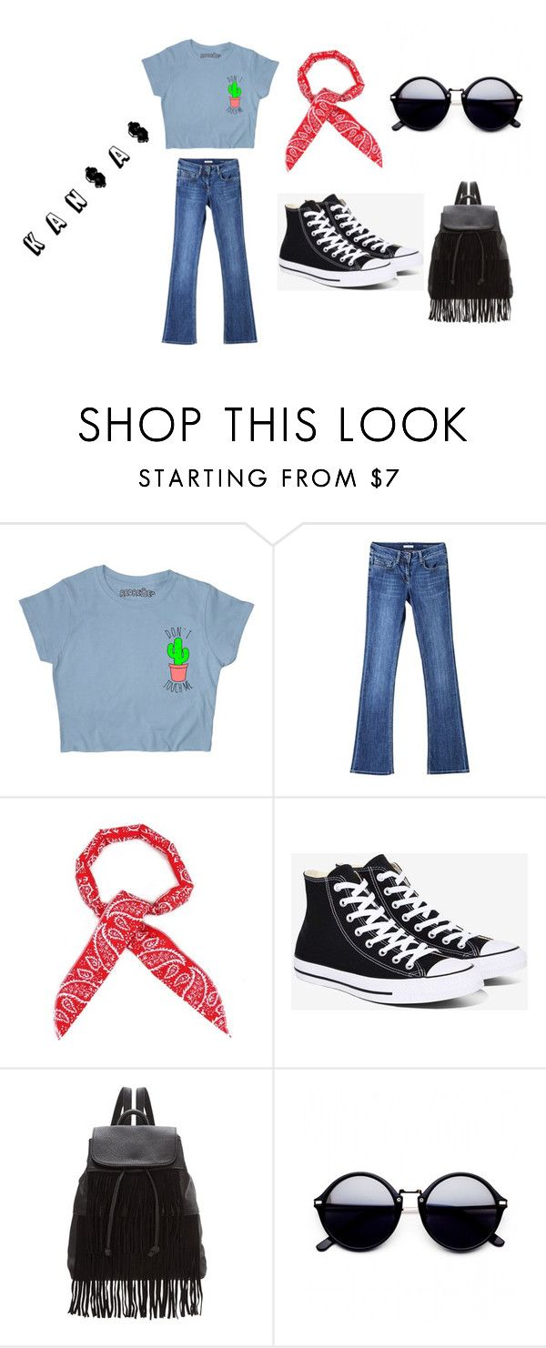 """""""KAn$A$"""" by inndahwulan on Polyvore featuring Burberry, Converse and Glamorous"""