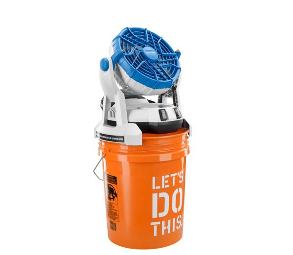 18v Bucket Top Mister -- Our most popular mister!  Battery operated, fits most 5 gallon buckets, and is compatible with RYOBI Lithium-Ion batteries!