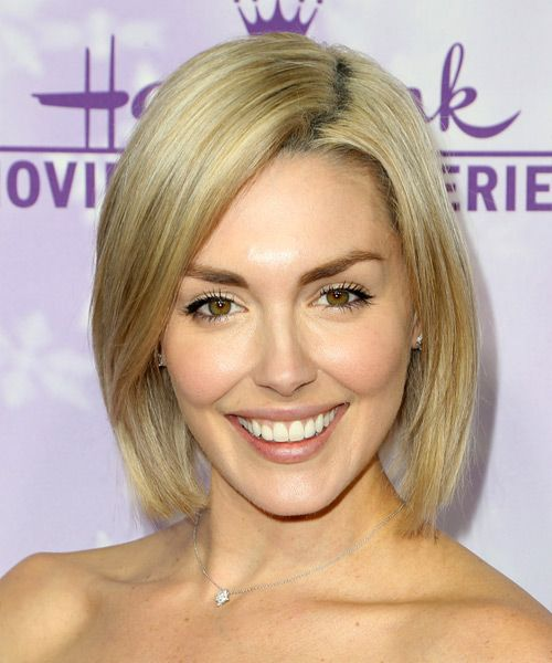 Taylor Cole short chic Bob. Try on this hairstyle and view styling steps! http://www.thehairstyler.com/hairstyles/casual/medium/straight/taylor-cole