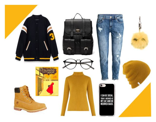 """""""Back to school"""" by elena-anders on Polyvore featuring Timberland, H&M, Chloé, Sole Society, Fendi and Casetify"""