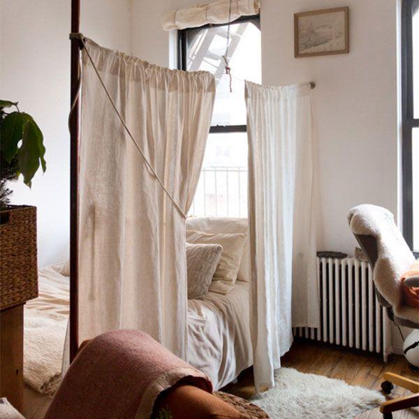 狭いワンルームの素敵な寝室づくり、ためになるポイントまとめ 20 選 ... small-tiny-apartment-bedroom-ideas14