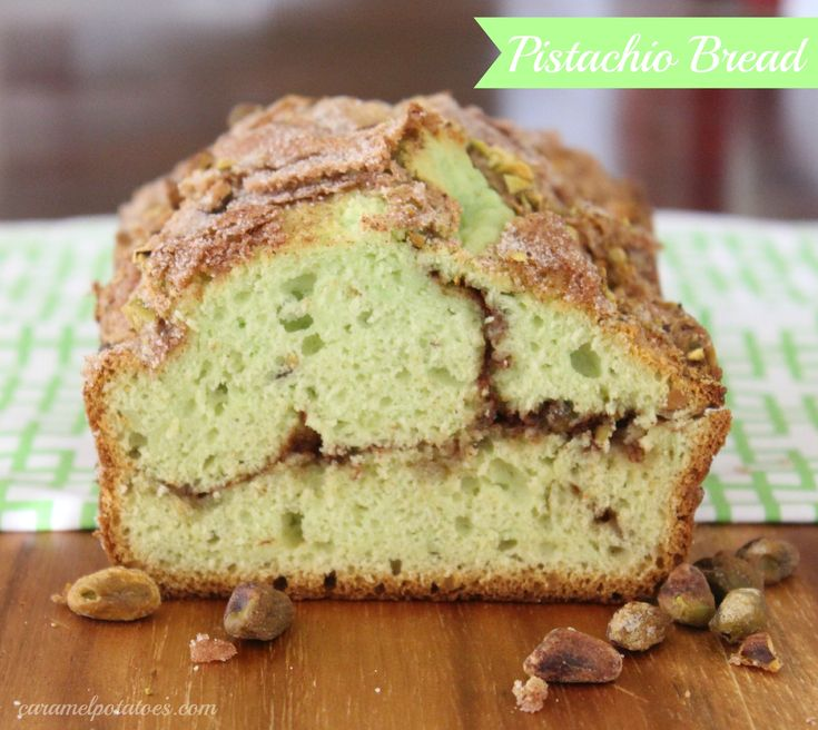 Pistachio Bread - {perfect for giving at Christmas and St. Patricks}