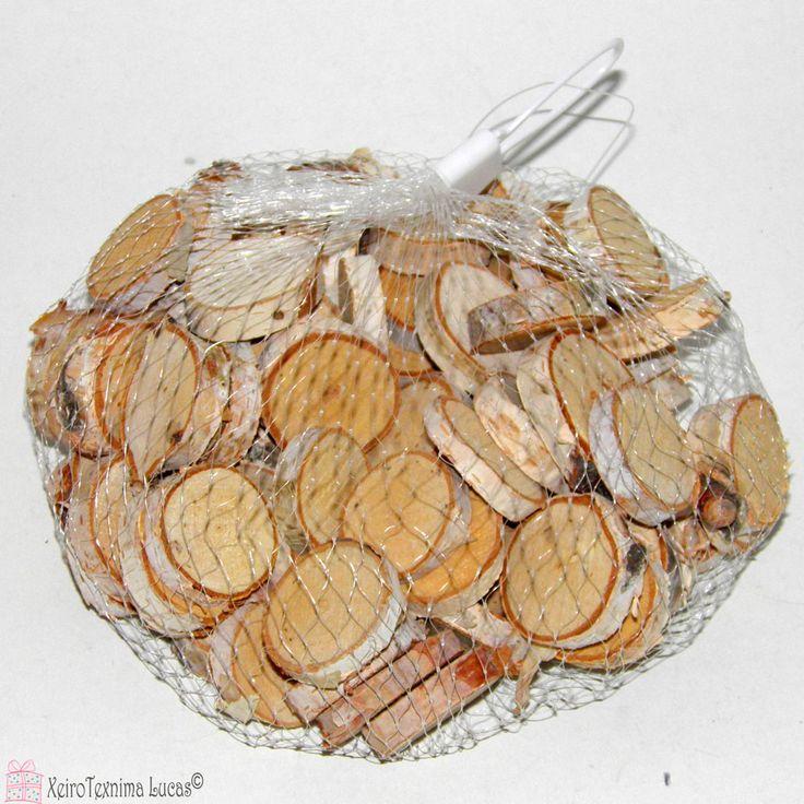 Ξύλινες διακοσμητικές ροδέλες για χειροτεχνίες και κατασκευές. Round disks from natural wood Ideal for decoration and crafts
