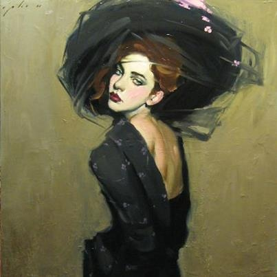 ▴ Artistic Accessories ▴ clothes, jewelry, hats in art - Malcolm Liepke
