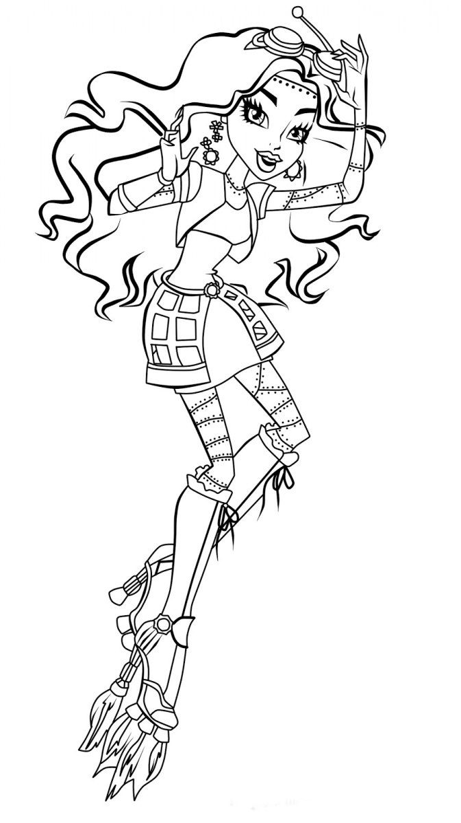 halloween monster high coloring pages - photo#36
