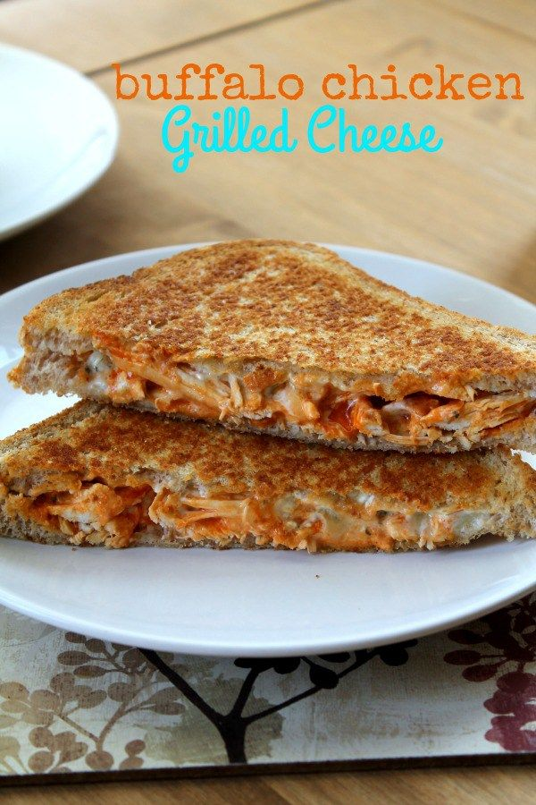 Buffalo Chicken Grilled Cheese is spicy, gooey, crunchy, and totally awesome.