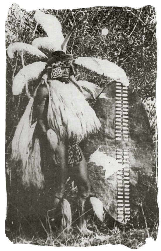 Allegedly an actual photo of The Great King Shaka Zulu, but he died in 1828, when photography was very much in its infancy, so I think this is a later representation.