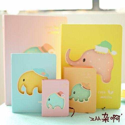 ZAA разное ах Мэн интересные серии конфеты цвета слоненок толстый твердый переплет дневник блокнота милый ребенок - глобальной станции Taobao