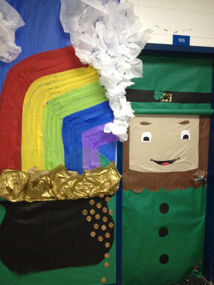 1000 images about st patricks day door ideas on for Decoration saint patrick