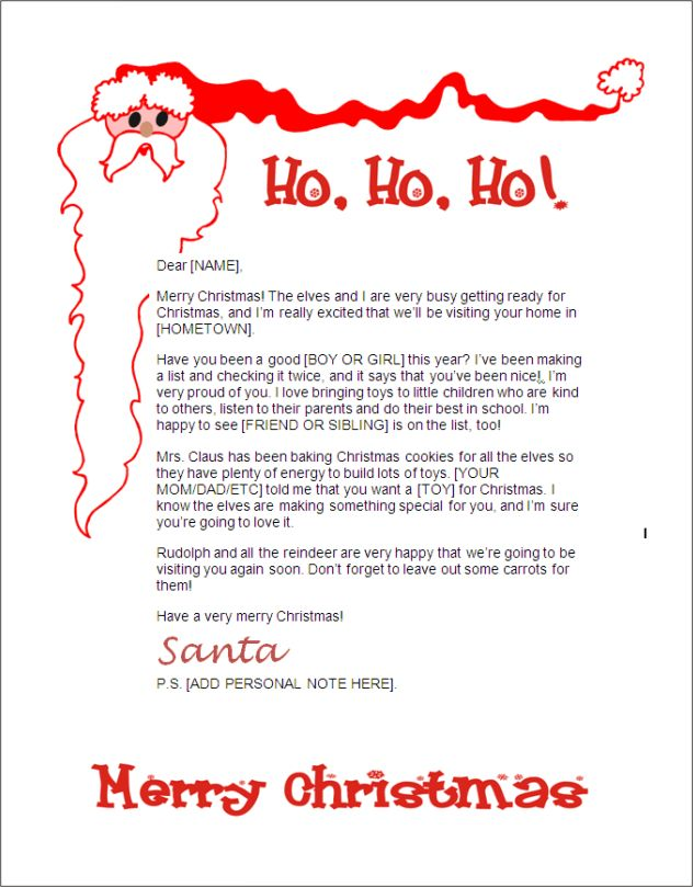 santa letter for kids - Ecosia