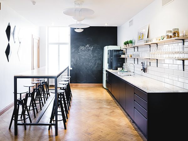 Motley Agency Office: Kitchen #interiordesign  #architecture Photo by Aleksi Tikkala.