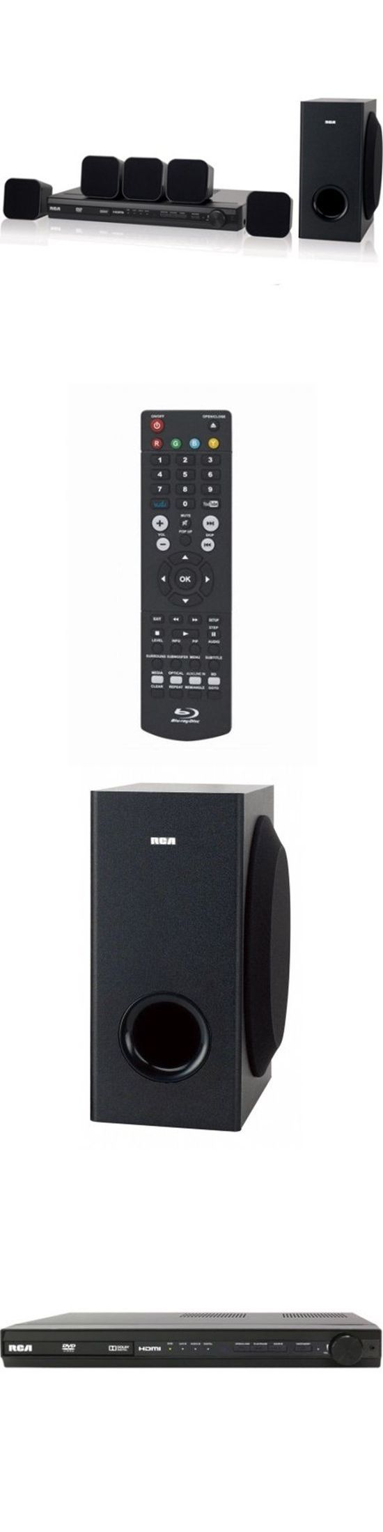 Home Theater Systems: Rca 200W Home Theater System With Dvd Surround Sound Receiver 5 Speakers Rc New BUY IT NOW ONLY: $103.99