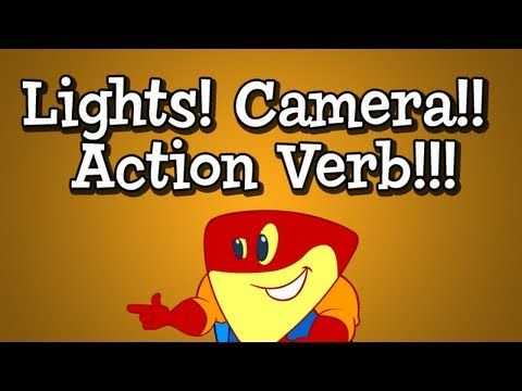 "▶ Verb Song from Grammaropolis - ""Lights! Camera!! Action Verb!!!"" - YouTube"