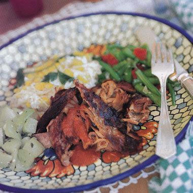 Goat in Chile Marinade, Pit-Barbecue Style - I have eaten BBQ goat this way; it is tender, sweet, and oh sooo tastey!