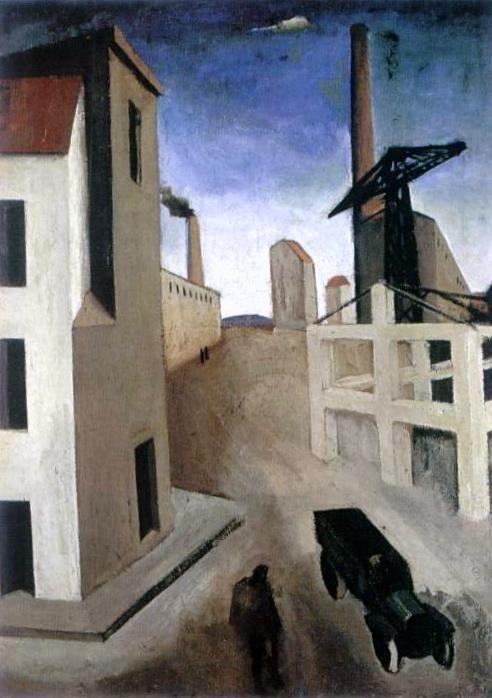 Mario Sironi, Paysage urbain, 1922