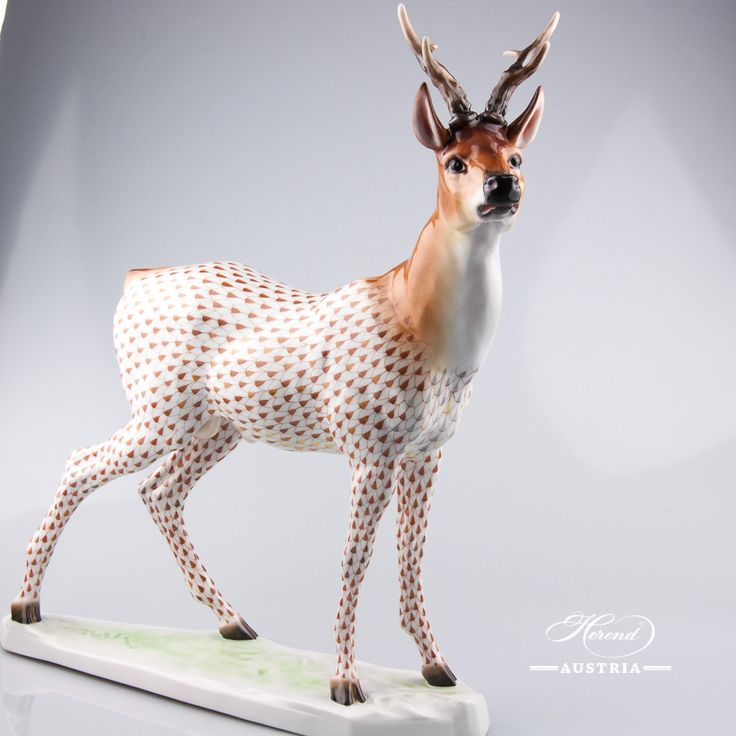 Roe Buck – NEW in 2016 - Herend Animal Figurine 15286-0-00 VHSP81 - Special - Herend Animals