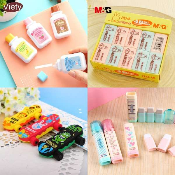 Rubbers  Pack for School Cute Kids Eraser of different   Shape