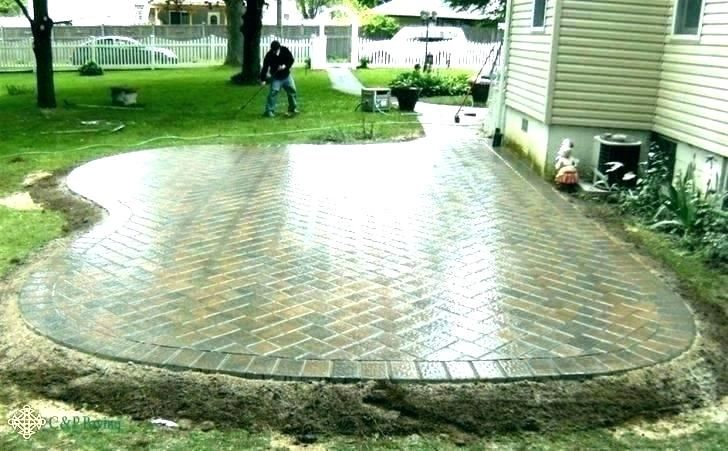 Cost For Brick Patio Of