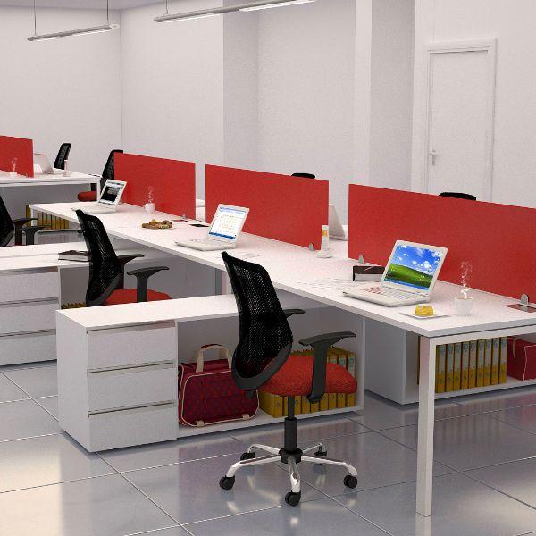 linea portika Archivos Activos. ambientacion de oficinas modernas. color rojo