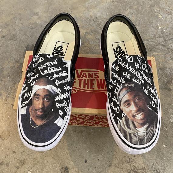 Custom Tupac Vans Slip On Shoes | Etsy