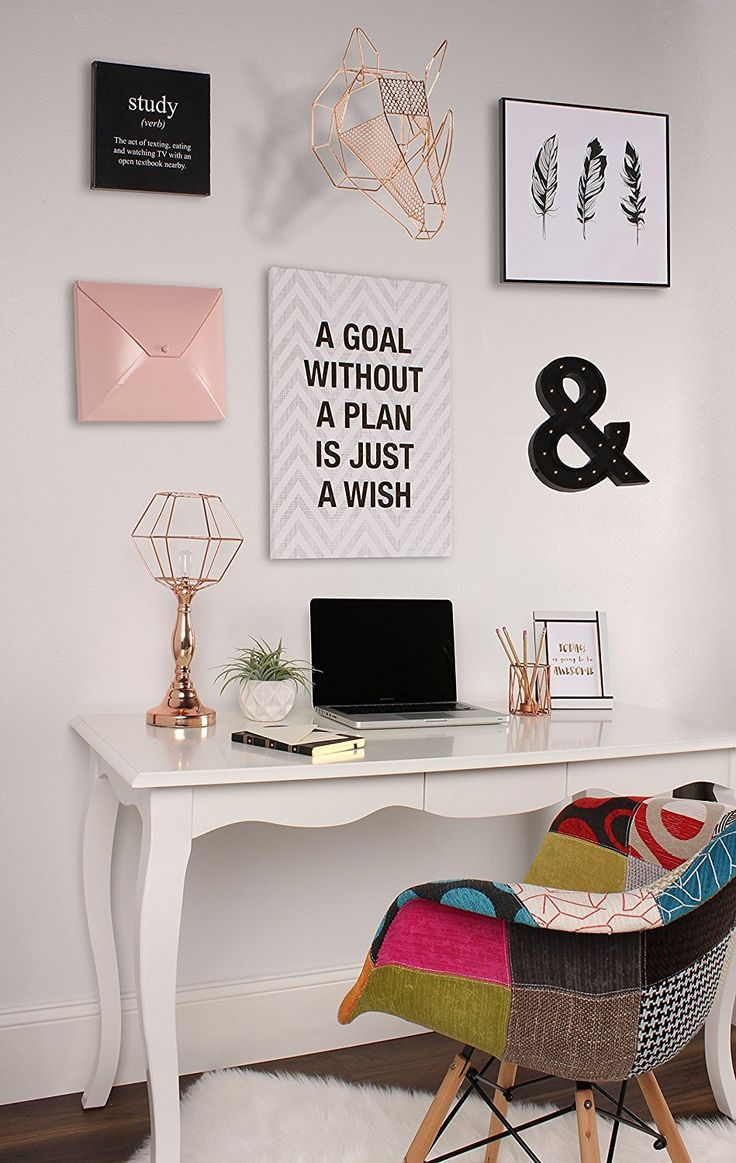Best 25 art desk ideas on pinterest craft room design for Room decor ideas rose gold