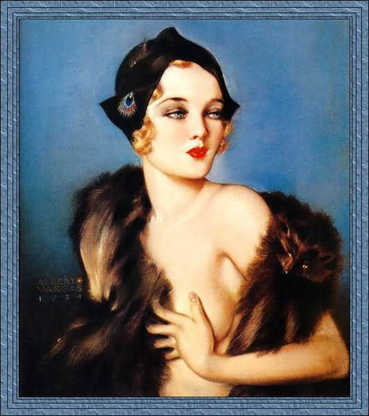 Alberto Vargas Portrait Girl