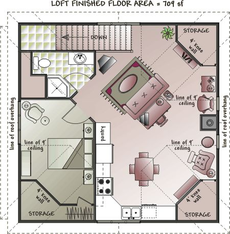 1000 images about small house floor plans on pinterest for Garage apartment plans 4 bedroom