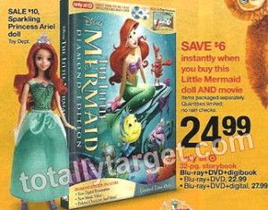 Starting 10/1, you can get a Ariel Doll and The Little Mermaid Blu-Ray + DVD for only $19.49! These items would make great Christmas gifts. Buy 1 Ariel Doll ($10) & 1 The Little Mermaid Blu-Ray + DVD ($22.99) = $32.99 *Save $6.00 instantly at the register when you buy both STARTING 10/1) Use 1 […]