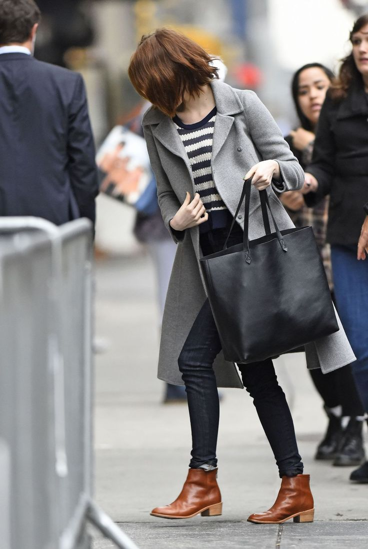 Emma Stone - Arriving at Her Play 'Cabaret' in New York City