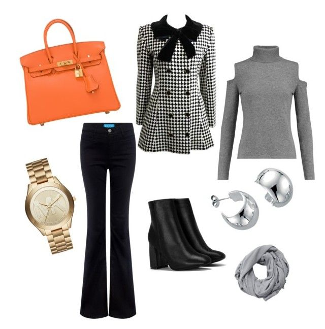 """""""fall"""" by chantallb on Polyvore featuring N.Peal, M.i.h Jeans, Nasty Gal, Hermès, MANGO and Michael Kors"""