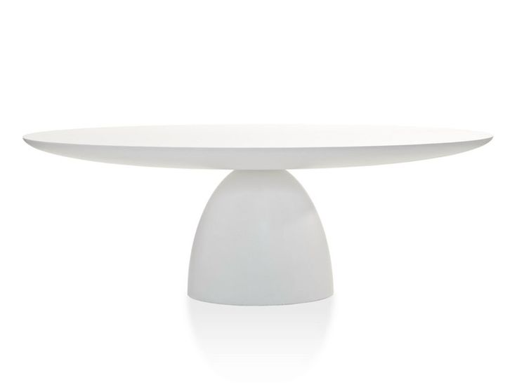 Tavololo ellittico in Dulver® ELLIPSE TABLE by Porro | design FRONT