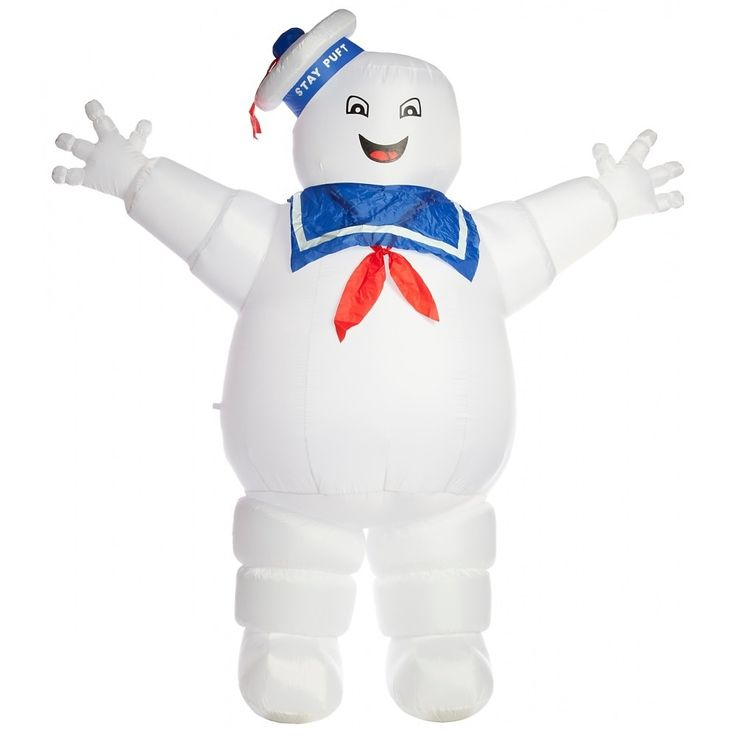 Stay Puff Marshmallow Man Inflatable Halloween Yard Decoration, Outdoor Décor