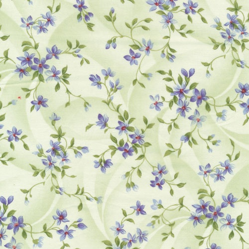 """Small floral from Fabri-Quilt's """"Southern Nights"""" collection available June 2013."""