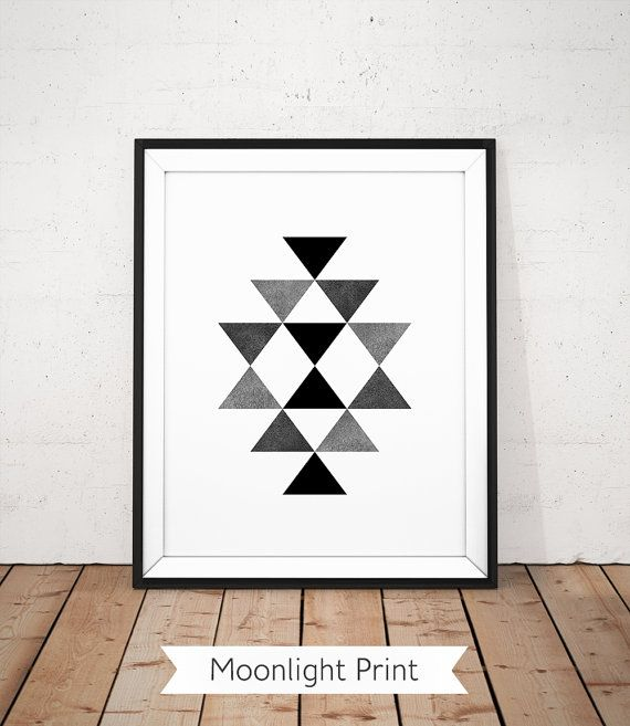 Scandinavian Print, Black and White Print, Aztec Wall Art, Southwestern print, Geometric Printable, Modern Poster, Graphic Poster, Black Art