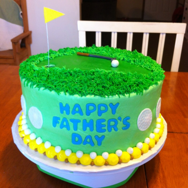 Fathers Day Golf Cake  Done!  Pinterest  Golf Cakes, Fathers Day...