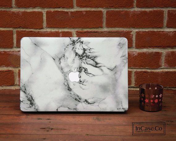 White Marble Macbook Pro Hard Plastic White Marble Case, Macbook Pro Retina and Non Retina Display, Macbook Air Hard Case,