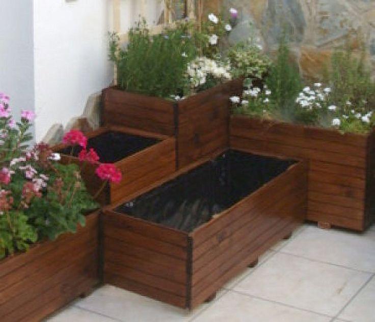 M s de 1000 ideas sobre jardinera de madera en pinterest - Como hacer una jardinera ...