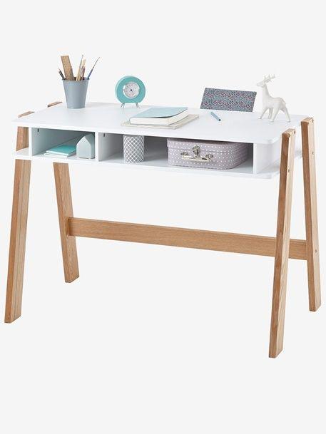Bureau junior Architekt - BLANC+Blanc/bois clair+Rose / bois+Vert/bois - 4