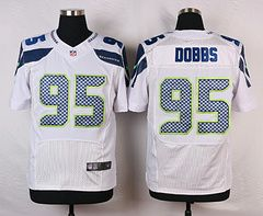 Cheap NFL Jerseys NFL - Nike Seattle Seahawks #95 Demarcus Dobbs White Elite Jersey ...