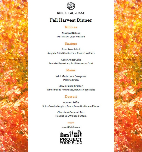 menu by tiffin tales via flickr fall party pinterest. Black Bedroom Furniture Sets. Home Design Ideas
