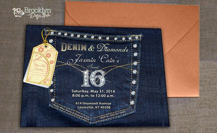 Denim Wedding Invitations: 91 Best Images About DENIM & DIAMONDS... On Pinterest