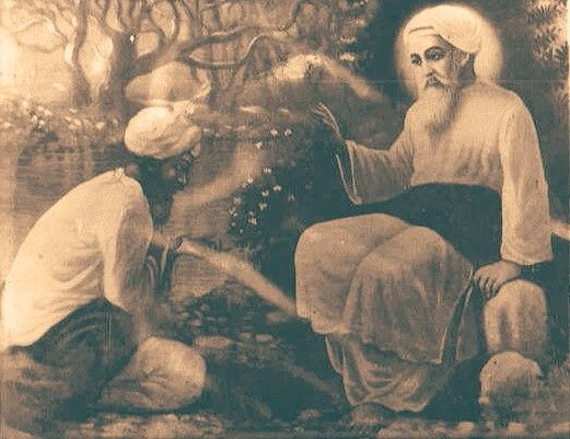 An original paining of Baba Nanak ji. Baghdad, Iraq.