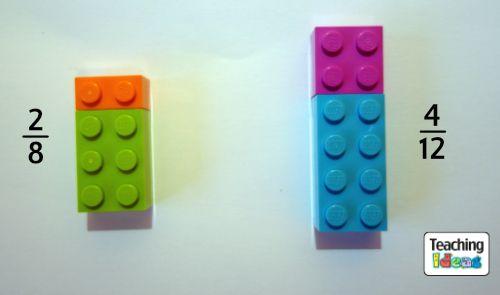 Fractions using Lego bricks