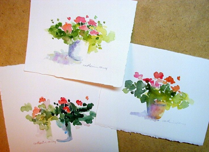 "These are three little paintings for a friend. I thought I could talk myself into posting them as my ""painting of the week"" - Yes - ..."