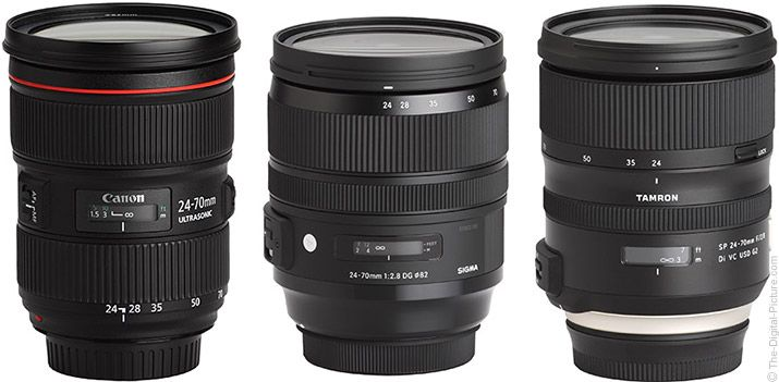 The-Digital-Picture.com's news team presents: Should I Get the Canon EF 24-70mm f/2.8L II USM, Sigma 24-70mm f/2.8 OS Art or Tamron 24-70mm VC G2 Lens?