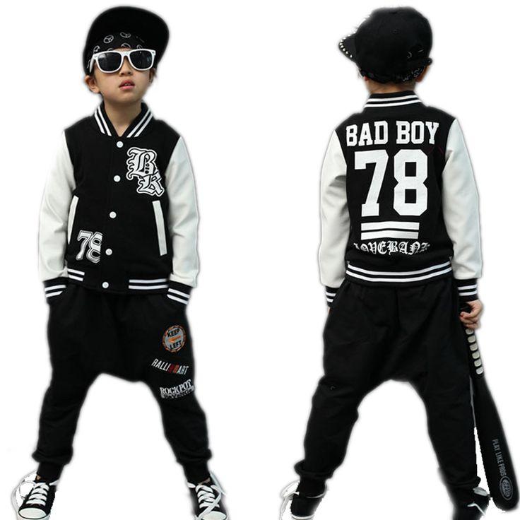 children clothing sets 2017 new spring letter printed children clothing sets top baseball jackets + pants toddler boy clothes