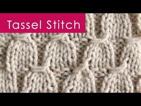 Vintage Tassel Stitch in Celebration of Graduation Season! Easy to Understand Step-by-Step Knitting Pattern Instructions SUBSCRIBE for more KNITTING IDEAS ht...